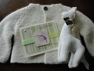 ce7ea0357ccd22 Ravelry  Top Down Garter Stitch Baby Jacket pattern by Nancy ...