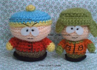 Amigurumi Nintendo : Ravelry amigurumi stan kyle cartman and kenny dolls south park