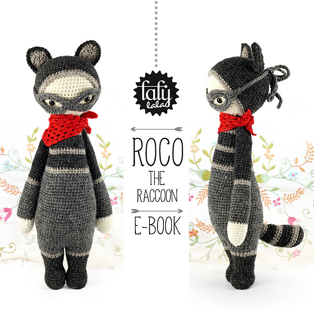 lalylala ROCO the raccoon pattern by Lydia Tresselt