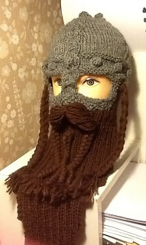 efaf0f784a3 Ravelry  Dwarven Battle Bonnet 2 pattern by Sally Pointer  Wicked Woollens