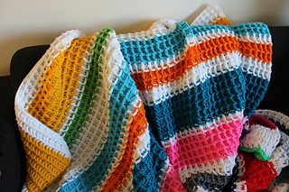 Ravelry Waffle Stitch Crochet Blanket Pattern By Lu North Strong Free