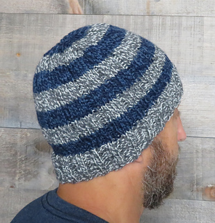 d24f86fa32878 Ravelry  Easy Striped Men s Beanie pattern by Lena Mathisson