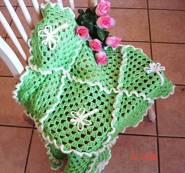 Ravelry Dragonfly Baby Blanket Pattern By Liana Graham