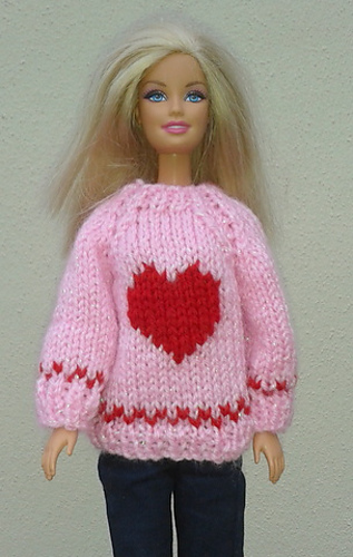Ravelry: Barbies Valentine Sweater pattern by linda Mary