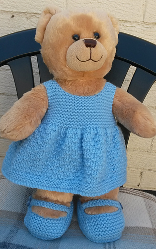 b14388ab413 Ravelry  teddy dress and shoes pattern by linda Mary