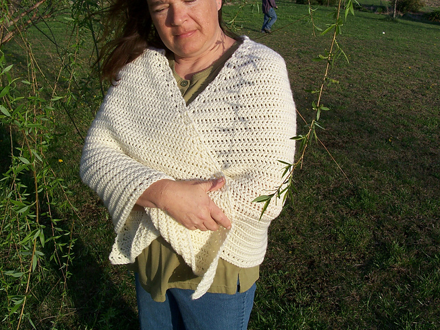 Ravelry: Crocheted Utilitarian Faroese Shawl pattern by Melissa Hahn