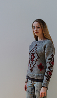 1c5d330eb Ravelry  Aztec Jumper pattern by The Little Grey Sheep