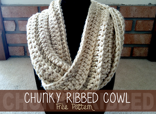 7b74996d9475d Ravelry  Chunky Ribbed Twisted Cowl pattern by Rebecca Langford