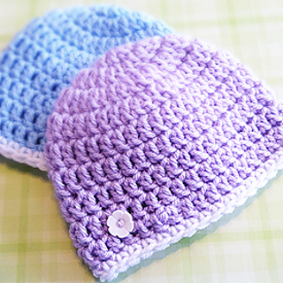 Ravelry Super Simple Newborn Beanie Charity Hat Pattern By