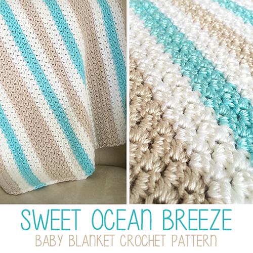 Ravelry Sweet Ocean Breeze Baby Blanket Pattern By Rebecca Langford