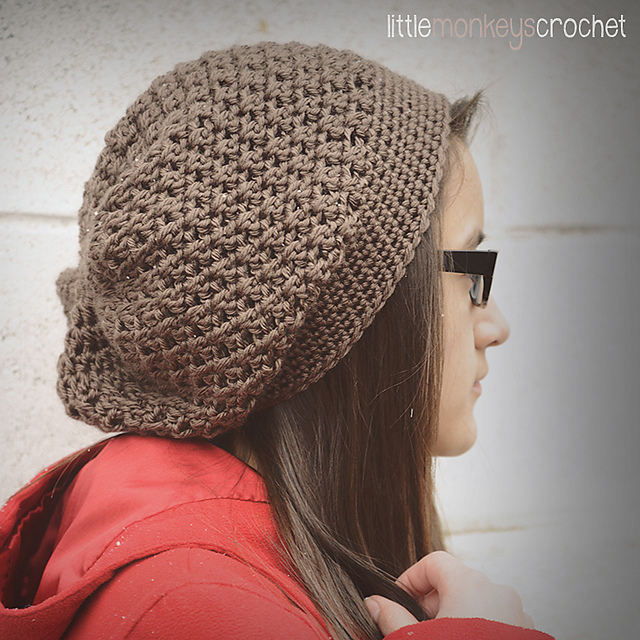Ravelry Slouchy Crochet Hat Pattern By Rebecca Langford