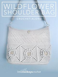 Ravelry Wildflower Shoulder Bag Pattern By Rebecca Langford