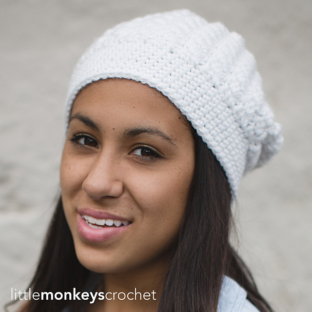 Ravelry Snowdrift Slouch Hat Pattern By Rebecca Langford