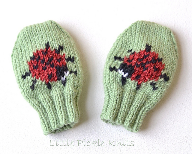 Ravelry Little Ladybird Baby Mittens Pattern By Linda Whaley