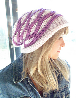 5d6f540c7af Ravelry  Cabled Wrap Crochet Slouchy Hat pattern by Elizabeth Gormley