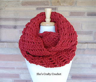 Ravelry Around And Round Infinity Scarf Pattern By Shes Crafty Crochet