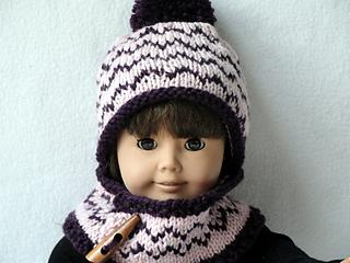 a2b40859af5 Ravelry  Doll Chevron Beanie and Warmer pattern by Martha McKeon