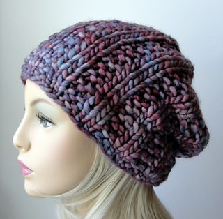 6f311707a32 Ravelry  Chain Link Slouch Beanie pattern by Martha McKeon