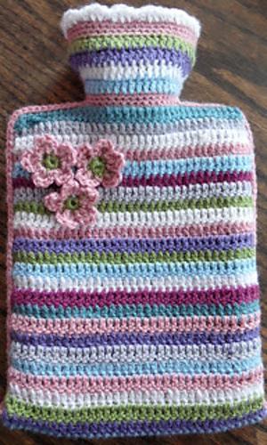 Ravelry Stripy Hot Water Bottle Cover Pattern By Kelly Wilson Moore