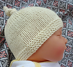 Ravelry  Baby Hat with Top Knot - Tegan pattern by Julie Taylor e2abce7c97f