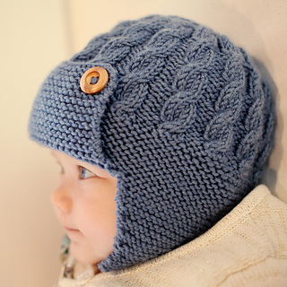 Ravelry  Dayton - Cabled Baby Aviator Hat pattern by Julie Taylor b370ea11b3f
