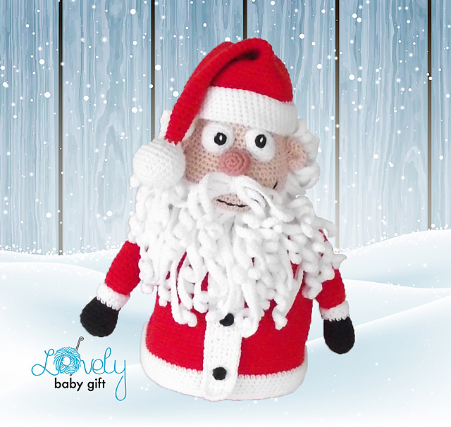 Ravelry: Santa Claus Christmas decoration/gift bag pattern by ...