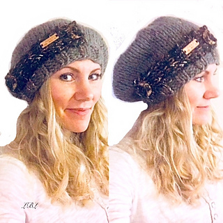 dec17065e185a9 Ravelry: Deadwood Slouchy Beret - Chunky Slouchy Hat pattern by Lovely by  Lee