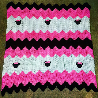 Ravelry Minnie Mouse Inspired Receiving Blanket Pattern By Lisa Waller