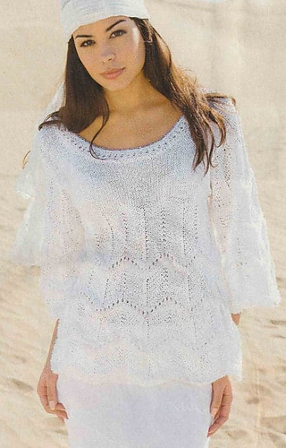 Ravelry 01 White Sweater In Zigzag Pattern Pattern By Sabrina