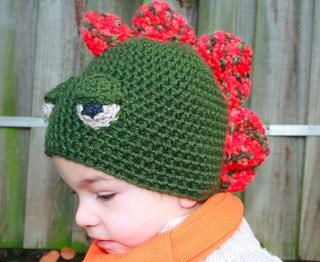 0332f7053 Dinosaur crochet beanie hat pattern by Luz Mendoza