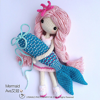 Ravelry Mermaid Ava艾娃 A Crochet Doll With 2 Looks Pattern By