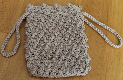 Ravelry Knotted Drawstring Bag Pattern By Lynne Samaan