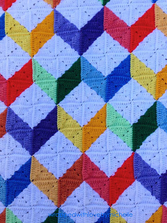 Ravelry Tumbling Blocks Baby Afghan Pattern By Michelle