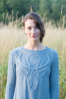 Stag Head Pullover pattern by Norah Gaughan