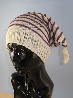 Ravelry Stripe Topknot Pixie Hat Pattern By Christine Grant