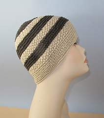 Ravelry Moss Seed Stitch Stripe Button Up Beanie Hat