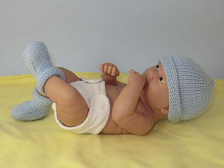 Ravelry  Just For Preemies - Premature Baby Simple 4 Ply Beanie and Booties  Set pattern by Christine Grant dafe37f43fc
