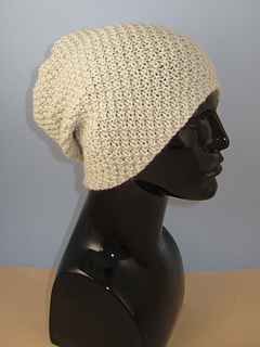 Ravelry  Chunky Unisex Double Moss Stitch Slouch Hat pattern by ... 7b79bb95d61