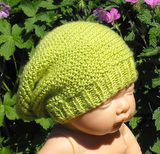 Ravelry Baby Silk Garter Stitch Slouch Pattern By Christine Grant