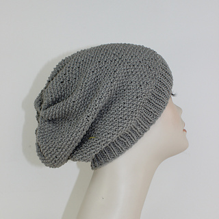 Ravelry moss stitch slouch hat circular pattern by christine grant dt1010fo