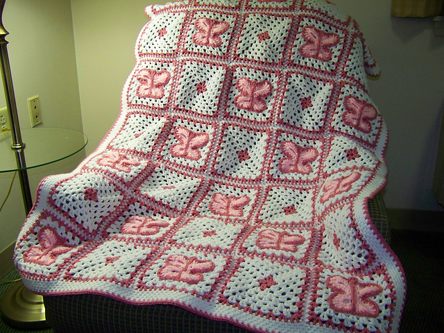 Ravelry: Butterfly Afghan #LW1496 pattern by Mary Jane Protus