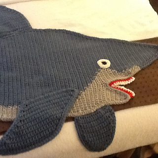Knitting Pattern For A Shark Blanket : Ravelry: Shark afghan pattern by Michele Maks