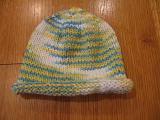 3f30ea9e7fcf9e Ravelry: Basic Newborn Baby Hat - Rolled Brim pattern by Jennifer Jackson