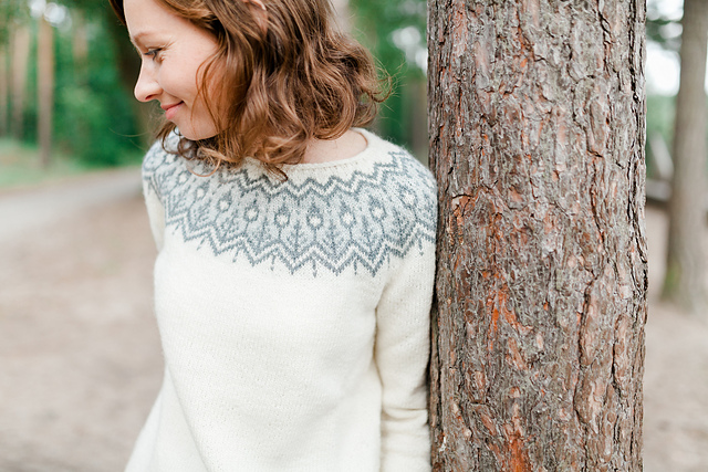 chandail tricoté jacquard Whinfell Sweater par Jennifer Steingass