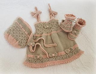 76c46bca96fd Ravelry: Little Bo-Peep Baby Dress Set pattern by Marcelline Simonotti
