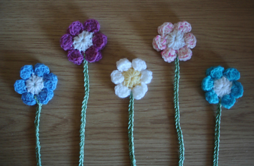 Ravelry Cute Crochet Flower Bookmark Pattern By Marianna Mel