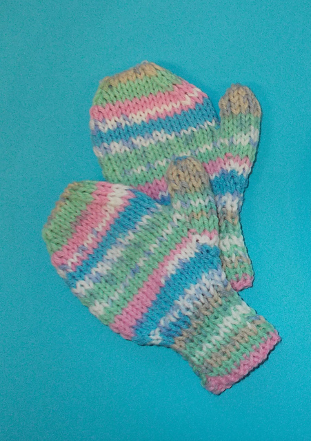 Ravelry: Fair Isle Effect Pre-School Toddler Mittens pattern by ...