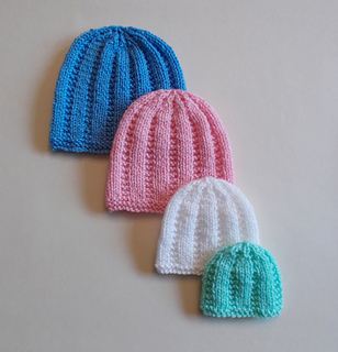 24d0ed71663 Ravelry  Perfect Premature Unisex Baby Hats pattern by marianna mel