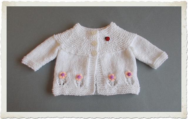 Ravelry Fleur Baby Cardigan Jacket Pattern By Marianna Mel