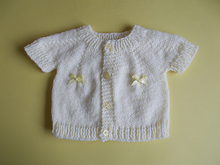 Ravelry: Short Sleeved Perfect Baby Boy or Girl Top Down DK Jacket ...
